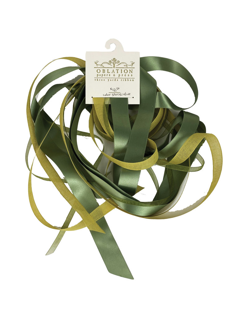 Oblation Papers & Press Color Stories: Olive Ribbon Trio