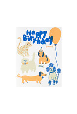 Egg Press Happy Birthday Fur Real Letterpress Card