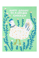 Egg Press Spring Chicken Birthday Letterpress Card