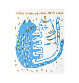 Egg Press Me to Mew Birthday Letterpress Card
