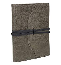 Manufactus Milano Refillable Grey Leather Journal 6 x 8