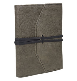 Milano Refillable Grey Leather Journal 6x8