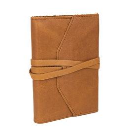 Laccio Refillable Cognac Leather Journal 5x7