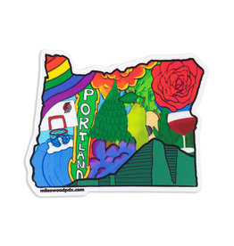 Miles Wood Portland Sticker