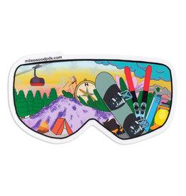 Ski Goggle Sticker
