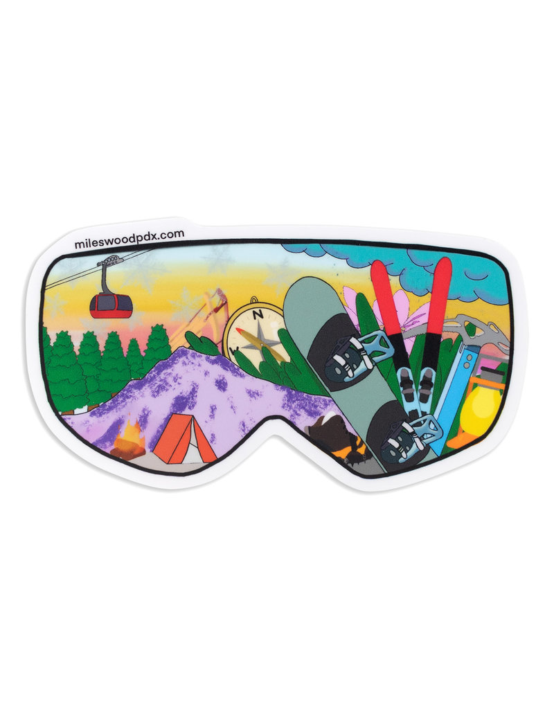 Miles Wood Ski Goggle Sticker