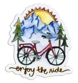 KPB Designs Enjoy the Ride Bike Sticker