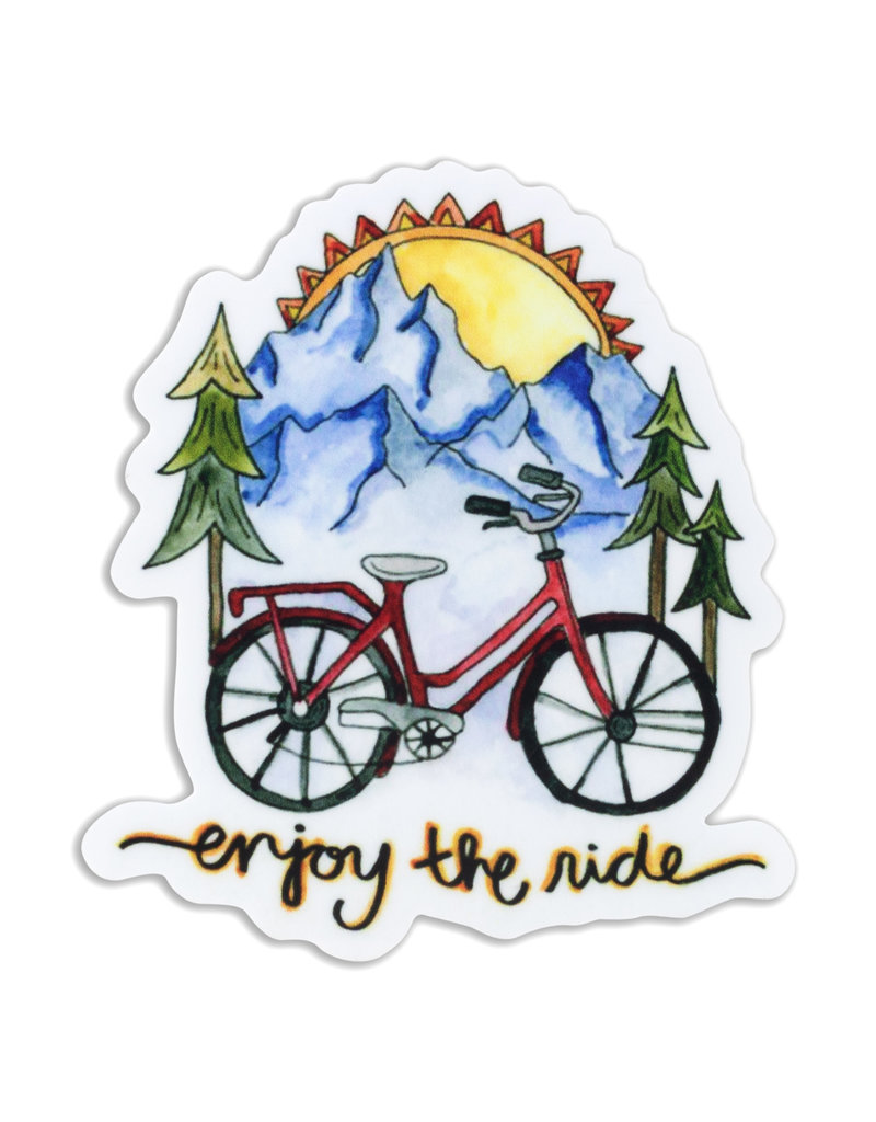 KPB Designs Enjoy the Ride Bike Sticker