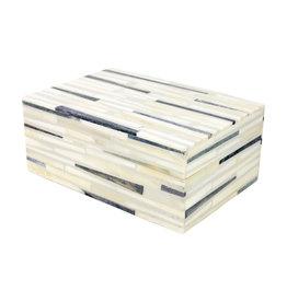 Hatch Pattern Bone Box