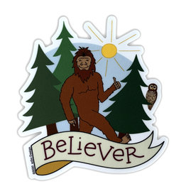 AC BC Design Bigfoot Believer Sticker