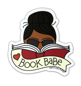 AC BC Design Book Babe Black Vinyl Sticker