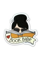 AC BC Design Book Babe Black Hair Sticker