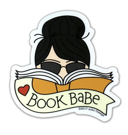 AC BC Design Book Babe Black Hair Sticker