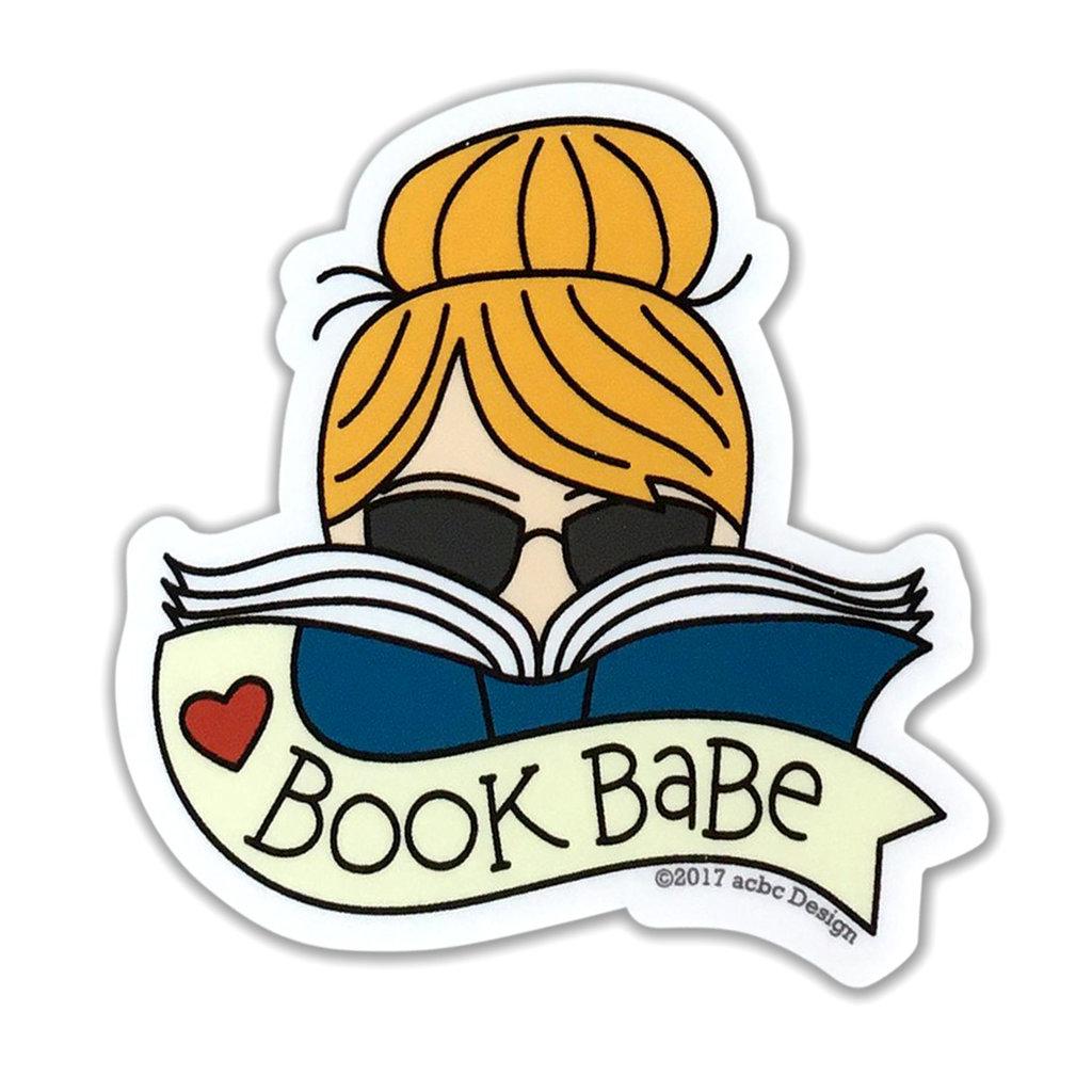 AC BC Design Book Babe Blonde Vinyl Sticker