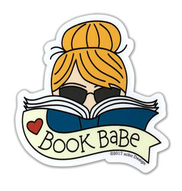 AC BC Design Book Babe Blonde Vinyl Sticker