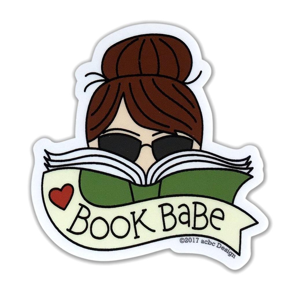 AC BC Design Book Babe Brunette Vinyl Sticker