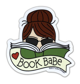 AC BC Design Book Babe Brunette Vinyl Sticker