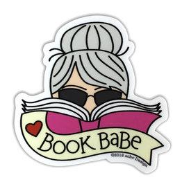 AC BC Design Book Babe Grey Hair Vinyl Sticker