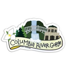 AC BC Design Columbia River Gorge Vinyl Sticker