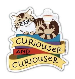 AC BC Design Curiouser Cat Sticker