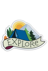 AC BC Design Explore Camping Vinyl Sticker