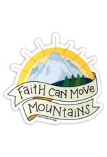 AC BC Design Faith Can Move Mountains Sticker