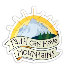 AC BC Design Faith Can Move Mountains Sticker