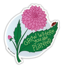 AC BC Design Grow Where You Are Planted Sticker