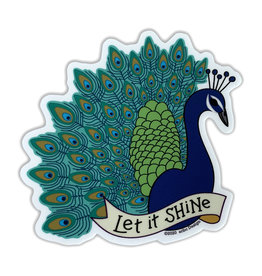 AC BC Design Let It Shine Peacock Sticker