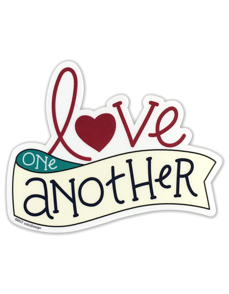 AC BC Design Love One Another Sticker