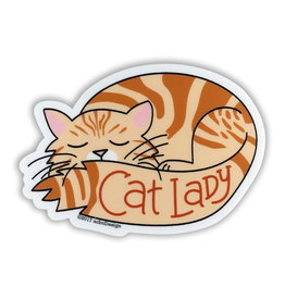 AC BC Design Orange Tabby Vinyl Sticker