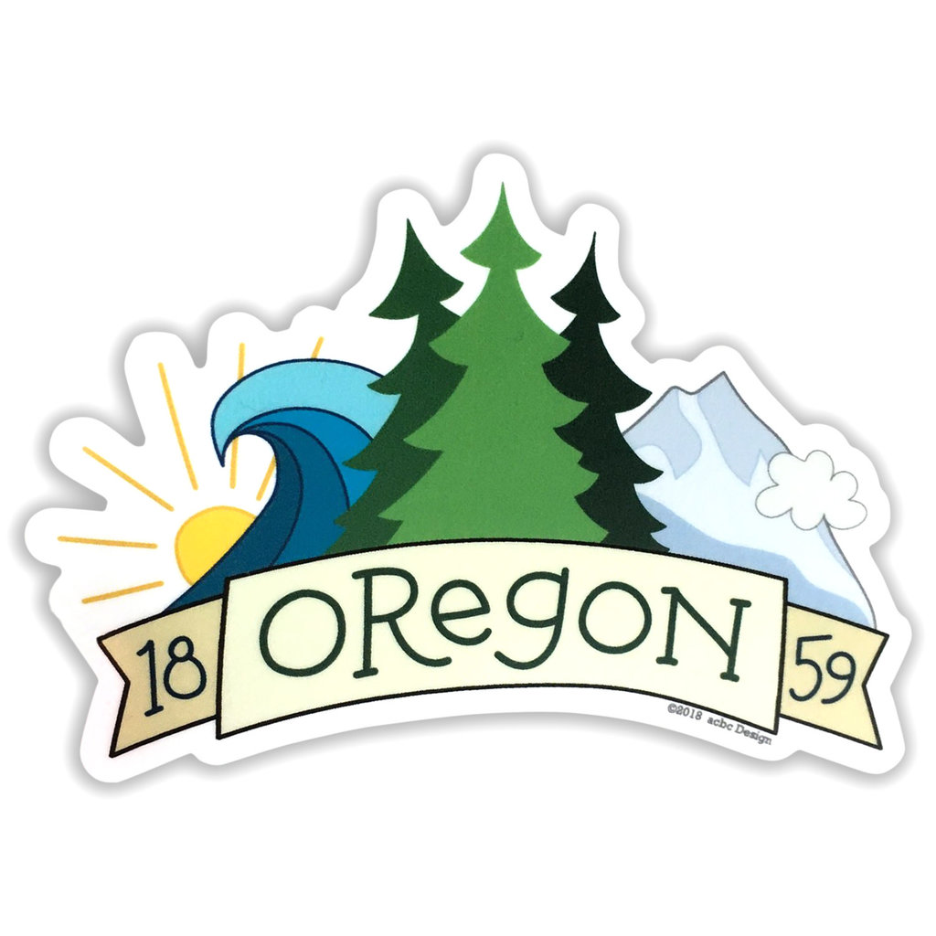AC BC Design Oregon 1859 Sticker