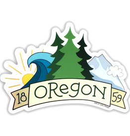AC BC Design Oregon 1859 Sticker