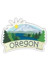 AC BC Design Oregon Mt Bachelor Vinyl Sticker