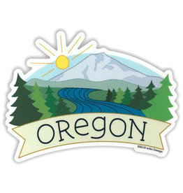 AC BC Design Oregon Mt Bachelor Vinyl Sticker