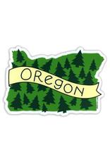 AC BC Design Oregon Trees Vinyl Sticker