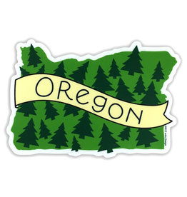AC BC Design Oregon Trees Vinyl Sticker