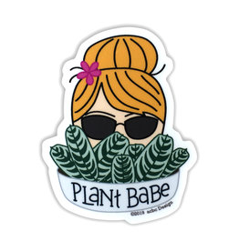 AC BC Design Plant Babe Blonde Vinyl Sticker