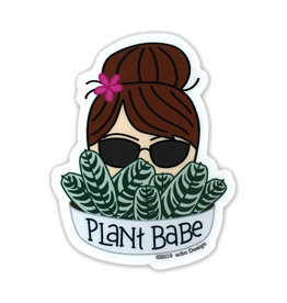 AC BC Design Plant Babe Brunette Vinyl Sticker