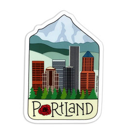 AC BC Design Portland City Sticker