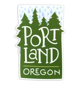 AC BC Design Portland Rain Vinyl Sticker