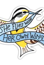 AC BC Design She Flies Vinyl Sticker