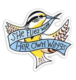 AC BC Design She Flies Vinyl Sticker