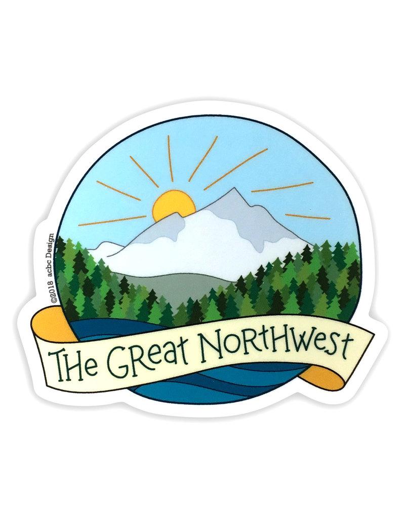 AC BC Design The Great NW Vinyl Sticker