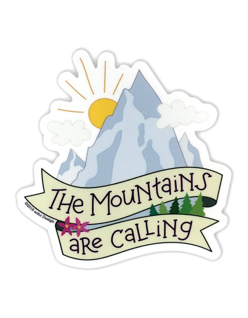 AC BC Design The Mountains Are Calling Vinyl Sticker