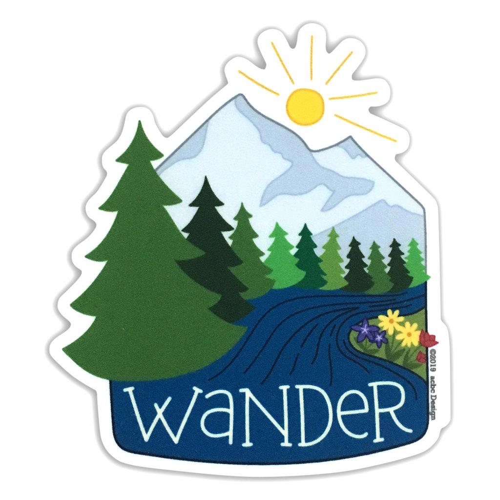 AC BC Design Wander Vinyl Sticker