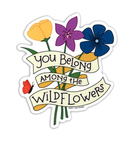 AC BC Design Wildflowers Vinyl Sticker