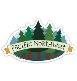 AC BC Design Pacific Northwest Trees Vinyl Sticker