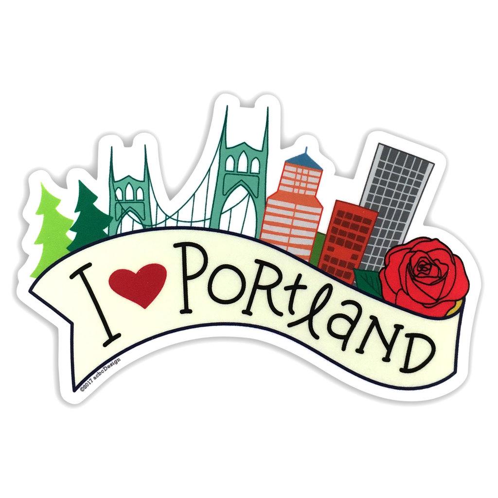 AC BC Design I Love Portland Vinyl Sticker