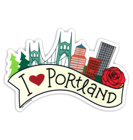AC BC Design I Love Portland Vinyl Sticker